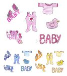 "Nailtattoos Set ""Baby"", Farbwahl"