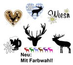 "Nailtattoos Wiesn ""Hirsche"", 6 Motive, Farbwahl!"