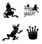 Set Frosch-Prinz, 48 Tattoos, 4 Motive, Farbwahl