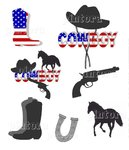 "Nailtattoos Set ""Cowboy"" 7 Motive"