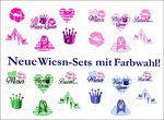 Nailtattoos Wiesn-Queen 6 Motive Farbwahl