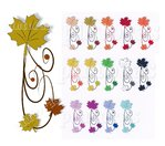 30 Nailtattoos Ahorn-Ornament, Farbwahl