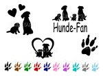 Set Hunde-Fan, 48 Tattoos, 4 Motive, Farbwahl