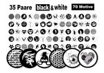70 Cabochonbilder Black & White 70 Motive